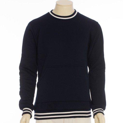 Bluza bawełniana klasyczna z kolorowym ściągaczem